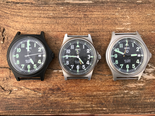 Bundle of Three MWC G10 Watches 1 x G10 Battery Hatch Model and 1 x 100m G10 Models and 1 x G10LM