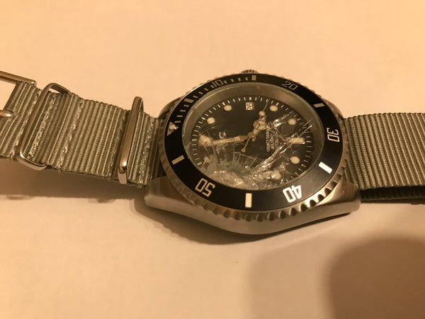 Pair of MWC 24 Jewel 300m Stainless Steel Automatic Military Divers Watch - Need Crystals But Two Supplied in Package