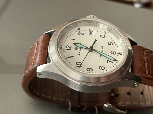 Grenson 24 Jewel Automatic Pilots Watch with 100m Water Resistant on Calf Leather Strap - Needs Attention/Service