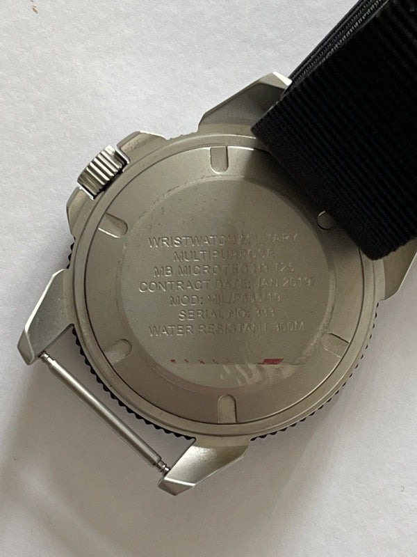 MWC P656 Tactical Series Watch with GTLS Tritium, 10 Year Battery Life Movement and Sapphire Crystal (Non Date Version) - Running but Second Hand Needs Resetting