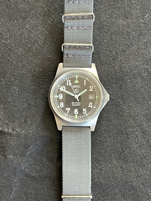 MWC G10LM on Grey NATO Strap - Very Clean but Not Running Maybe just a Battery Needed