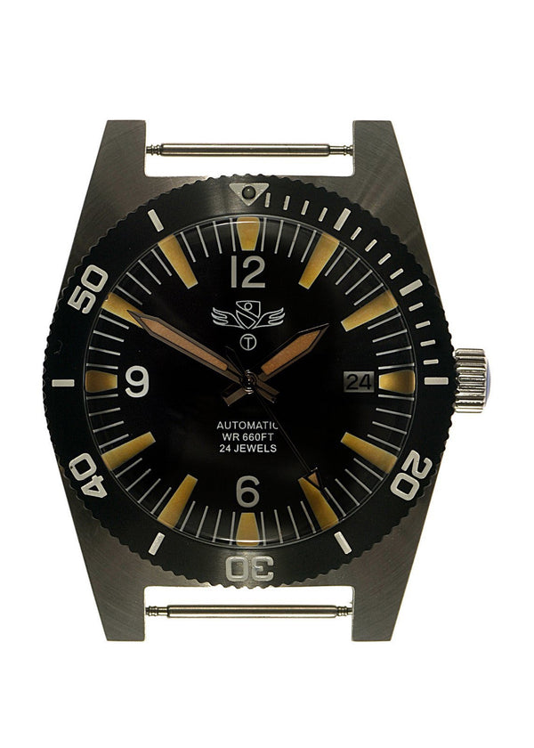 Military Industries 1970s Pattern Automatic 24 Jewel Stainless Steel Divers Watch - Ex Display