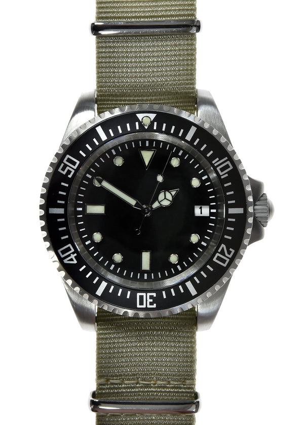 Military Industries 1982 Pattern 300m Water Resistant Military Divers Watch With Date Window (Automatic) Ex Display Watch from a Trade Show