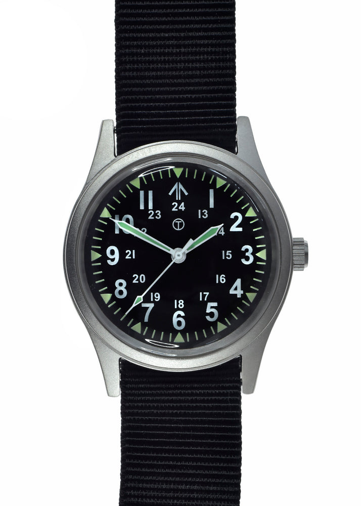 Military Industries General Service Watch with 12/24 Hour Dial - Ex Display Watch from a Trade Show to Clear