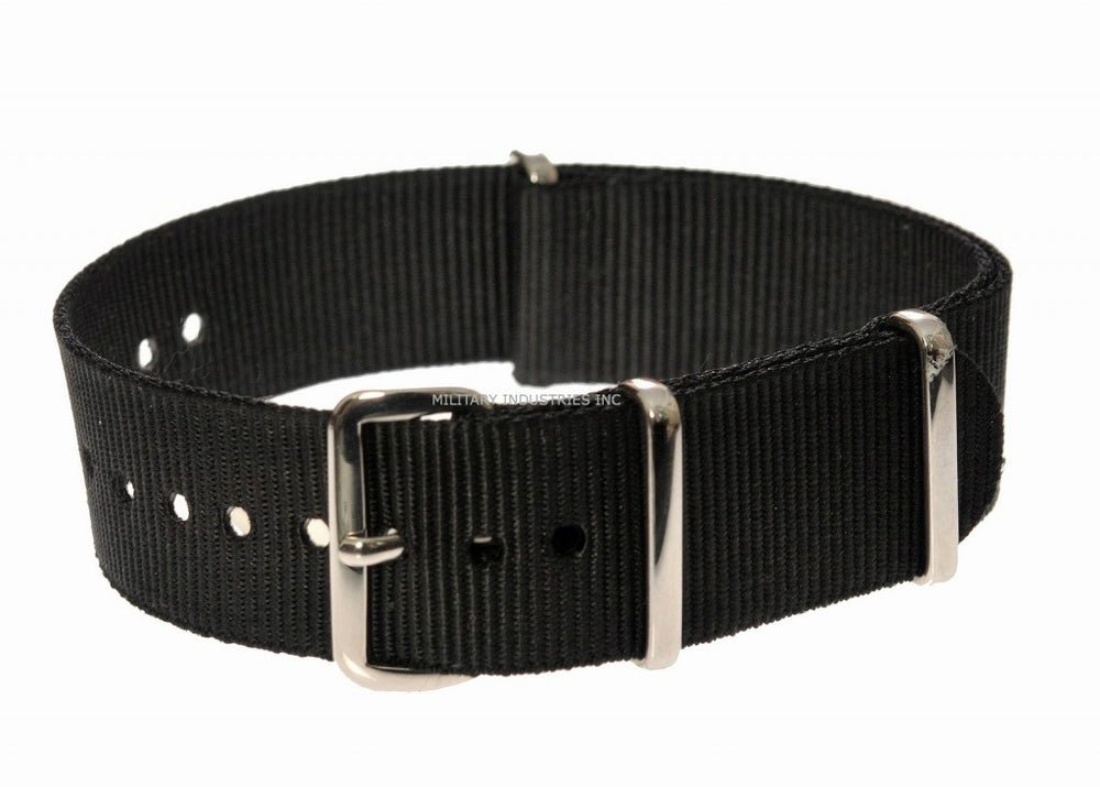 24mm Black NATO Military Watch Strap