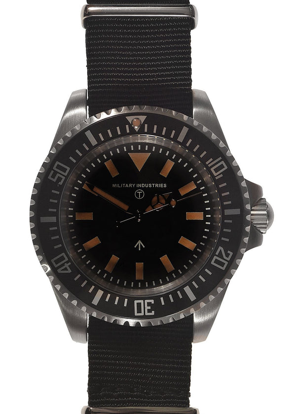 Military Industries 1982 Pattern 300m Water Resistant Military Divers Watch Without Date Window (Automatic) Ex Display Watch from IWA Trade Show save over 50%