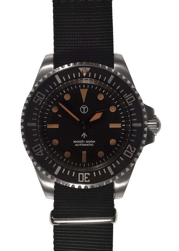Military Industries 1982 Pattern 300m Water Resistant Military Divers Watch Without Date Window (Automatic) Ex Display Watch Save 50%