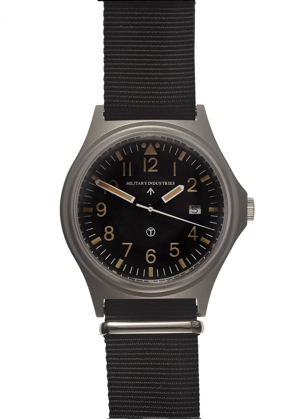 Military Industries General Service (GS-2017) NATO Pattern Military Watch with Battery Hatch (Branded) - SLIGHTLY SHOP SOILED FROM A TRADE SHOW