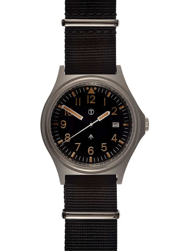 Military Industries General Service (GS-2017) NATO Pattern Military Watch with Battery Hatch (Sterile Version) - SLIGHTLY SHOP SOILED FROM A TRADE SHOW