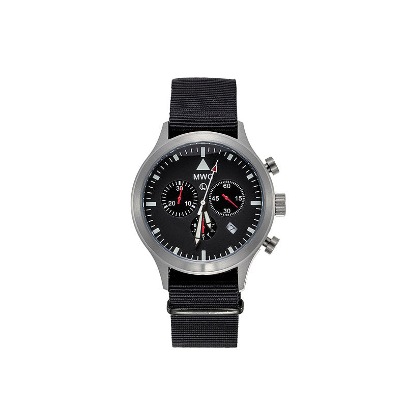 MWC MIL-TEC MKIV Stainless Steel Military Pilots Chronograph - BRAND NEW - Ex Display Watch Under Half the Usual Price!