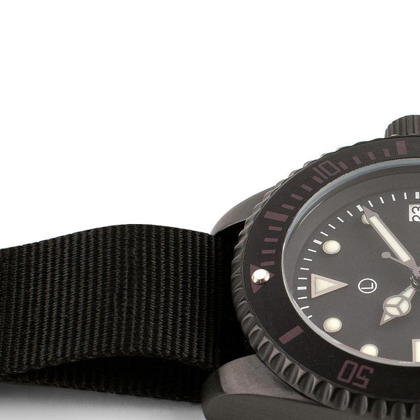 MWC 300m Black PVD Quartz Military Divers Watch (Unbranded)