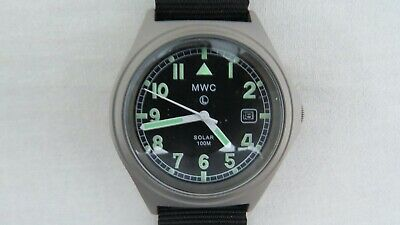 MWC G10 100m Solar Powered Titanium Military Watch (Not Running Most Likely Needs a New Capacitor)