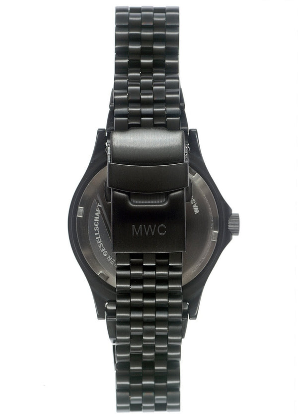 MWC G10 300m / 1000ft Water resistant Black PVD Steel Military Watch with Sapphire Crystal on Bracelet - Dusty/Soiled Packaging