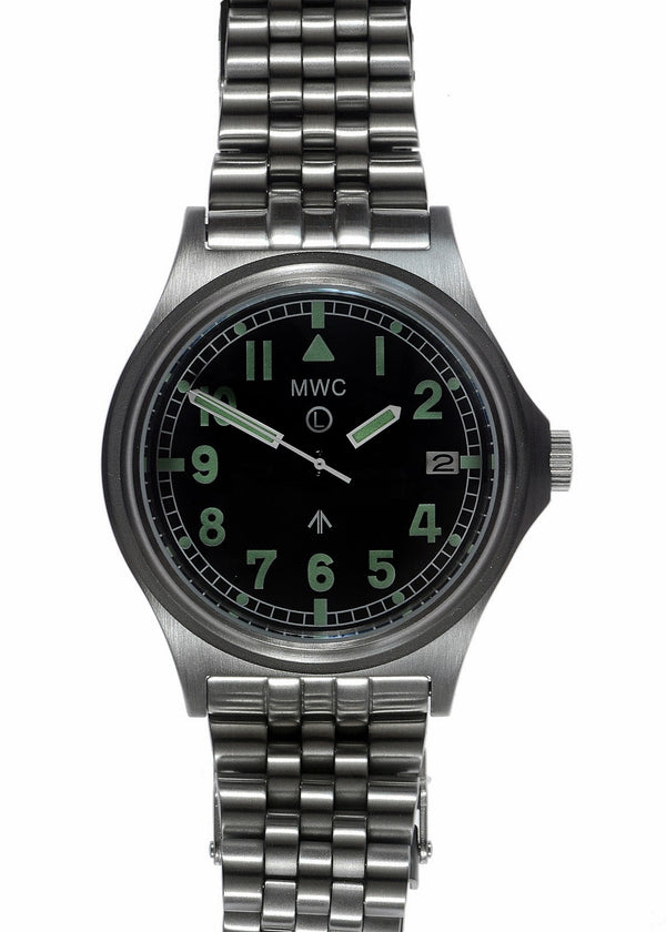 MWC G10 300m / 1000ft Water resistant Stainless Steel Military Watch with Sapphire Crystal on Bracelet - Slight Mark on Watch Case