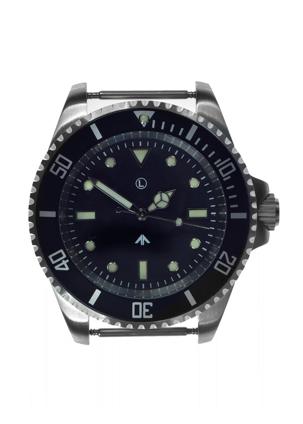 MWC 300m / 1000ft Stainless Steel Hybrid Military Divers Watch with Sweep Secondhand - New Needs Attention to Crown