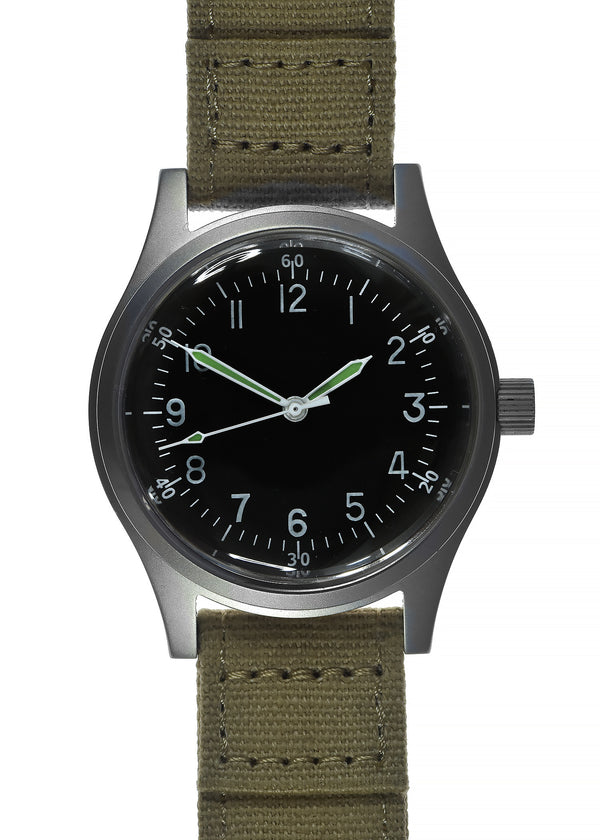 A-11 1940s WWII Pattern Military Watch With Plexiglass/Acrylic Crystal (Automatic)