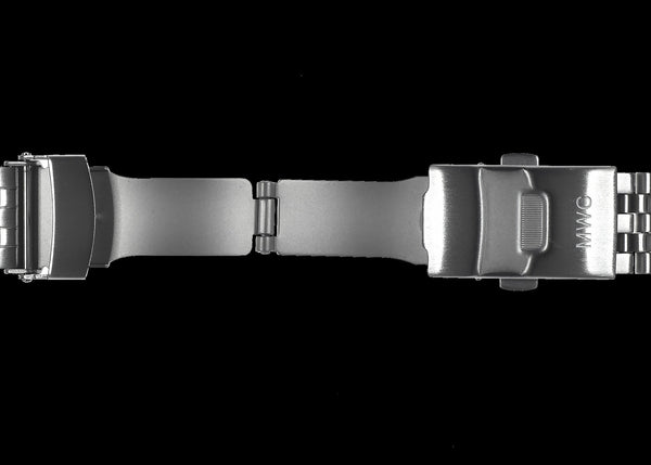 Stainless Steel 20mm Bracelet to fit MWC G10 Models with screw in Strap Bars