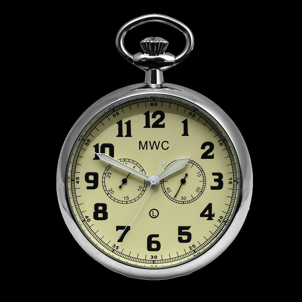 General Service Military Pocket Watch (Hybrid Movement with Cream Dial)