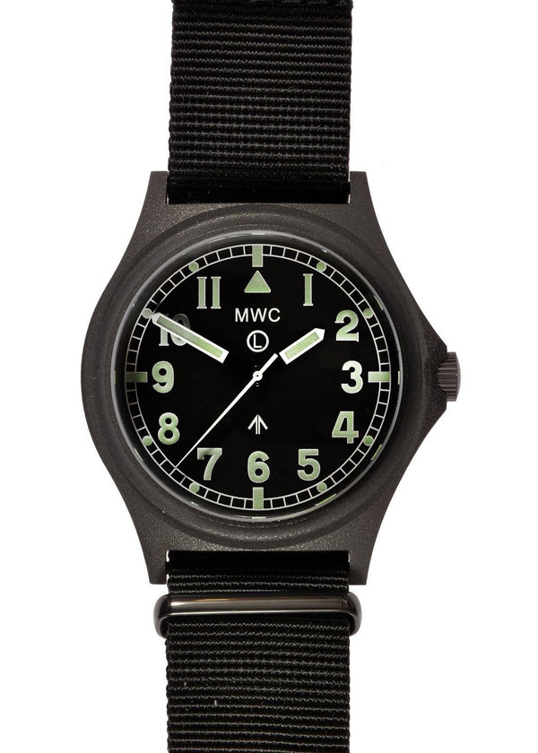 MWC G10 300m / 1000ft Water resistant Military Watch in PVD Steel Case with Sapphire Crystal (Non Date) - New but Faulty