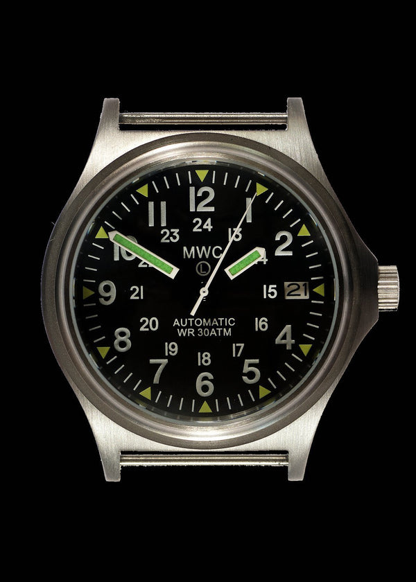 MWC G10 300m / 1000ft Water resistant Limited Edition Brushed Stainless Steel Automatic Military Watch with Sapphire Crystal on NATO Strap - Ex Display Watch