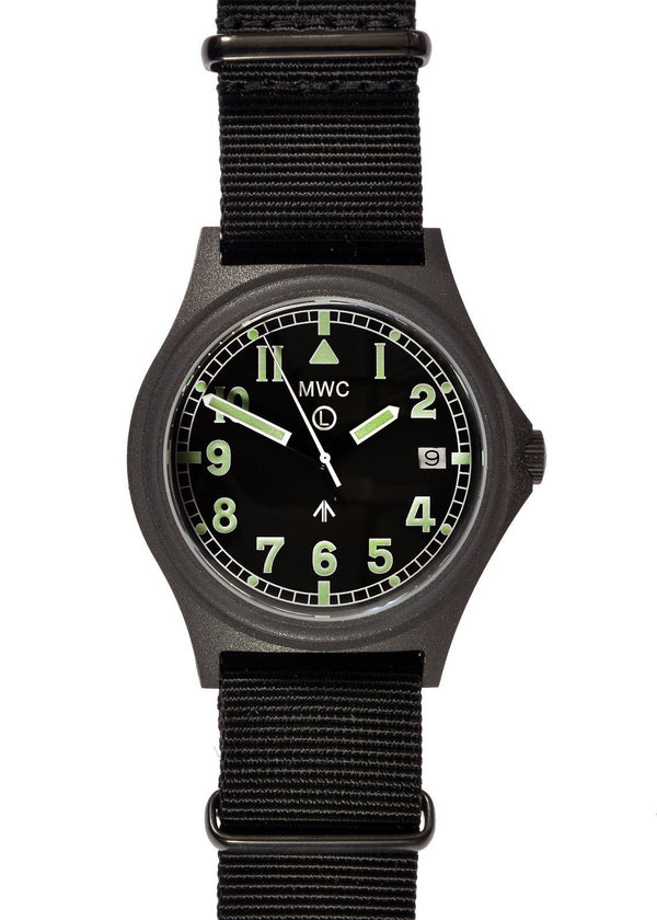 MWC G10 300m / 1000ft Water resistant Military Watch in PVD Steel Case with Sapphire Crystal (Dated)