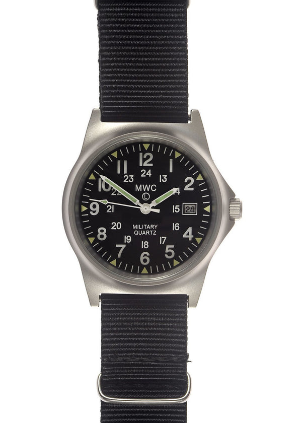 MWC G10 LM Stainless Steel Military Watch with 12/24 Hour Dial - Ex Display Watch