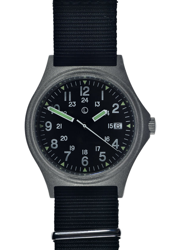 MWC G10 100m Water resistant Military Watch in Stainless Steel Case with Screw Crown - Ex Display Watch from a Show