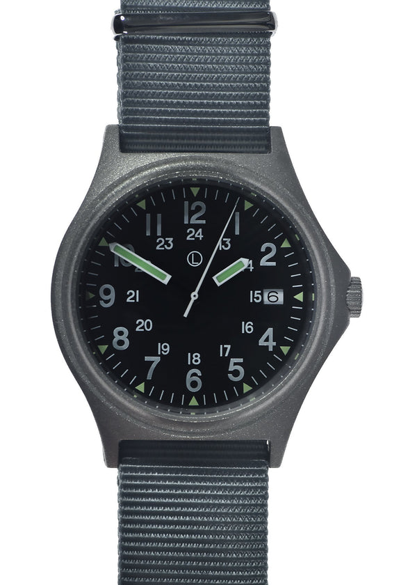 MWC G10 100m Water resistant Military Watch in Stainless Steel Case with Screw Crown
