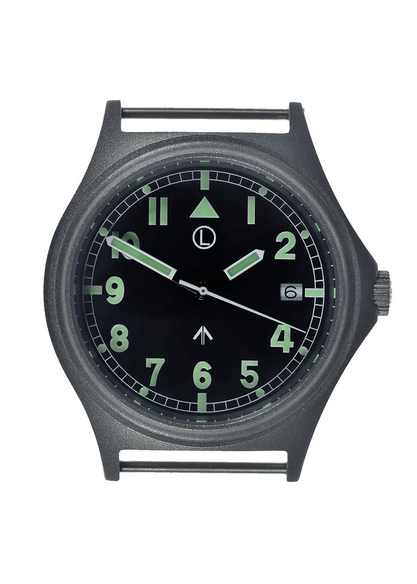 G10 100m Water resistant Military Watch with 12 Hour NATO Pattern Dial in Stainless Steel Case with Screw Crown (Unbranded) - 2 x Ex Display Watches Available