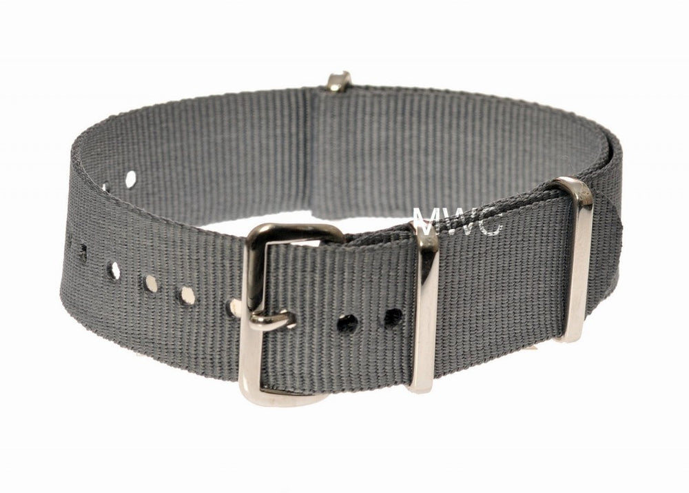 18mm Grey NATO Military Watch Strap