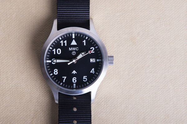 MWC Mk III Stainless Steel 1950's Pattern 100m Water Resistant Automatic Military Watch - As New but Not Running