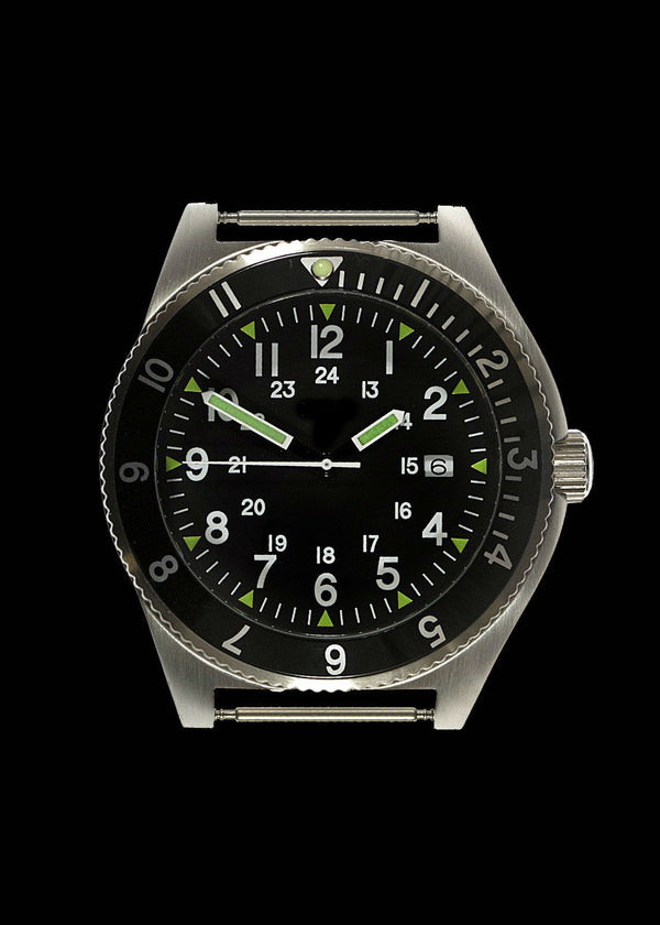 MWC 300m Water Resistant Stainless Steel Navigator Watch with Luminova - Not Running but New