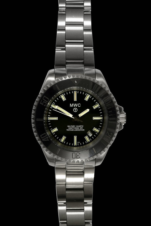 MWC 300m Military Quartz Divers Watch with Tritium GTLS - Ex Display Watch from a Trade Show