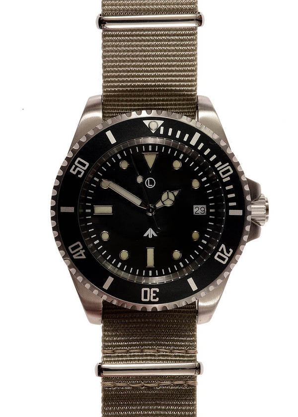 MWC 300m / 1000ft Stainless Steel Quartz Military Divers Watch (Unbranded) Ex Display Watch from a Trade Show