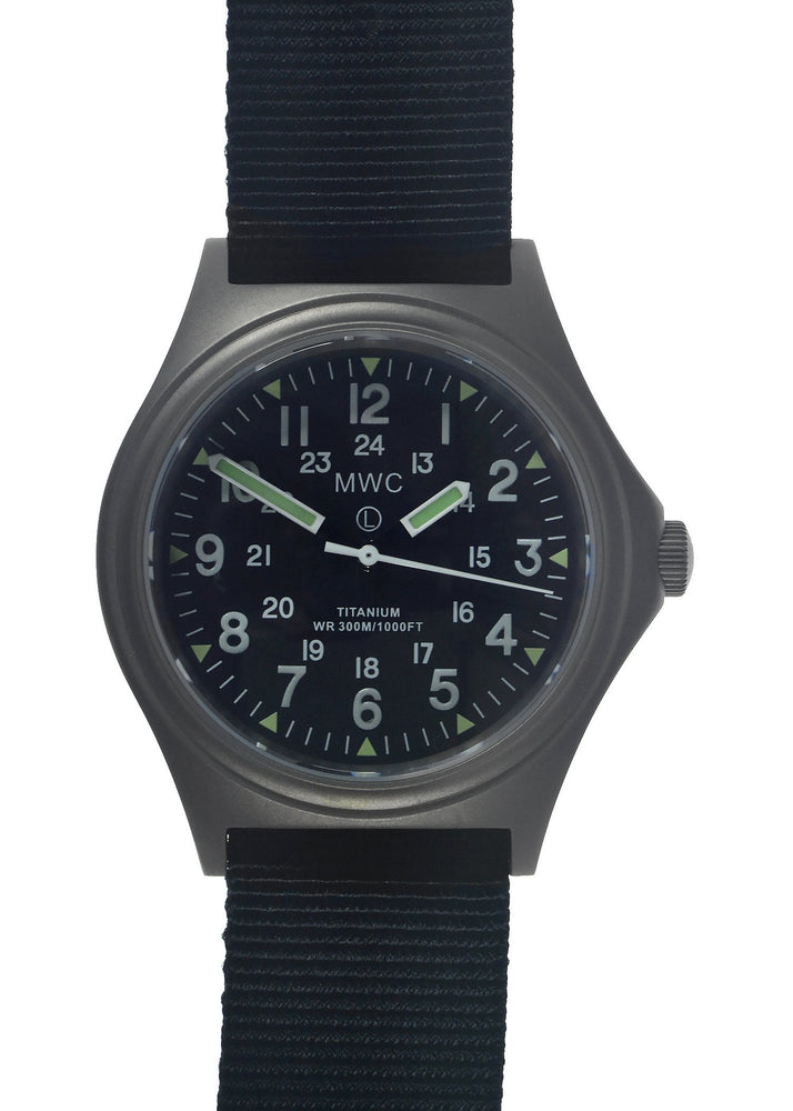 MWC Titanium General Service Watch, 300m Water Resistant, 10 Year Battery Life, Luminova, Sapphire Crystal and 12/24 Dial Format (Non Date Version) - Ex Demo Watch