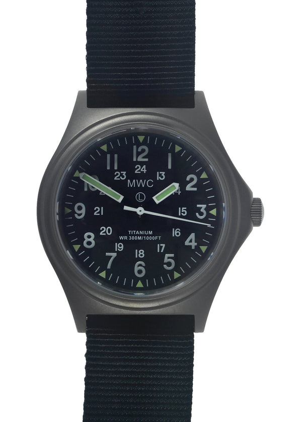 MWC Titanium General Service Watch, 300m Water Resistant, 10 Year Battery Life, Luminova, Sapphire Crystal and 12/24 Dial Format (Non Date Version) - Save 50% Ex Display Watch from a Trade Show