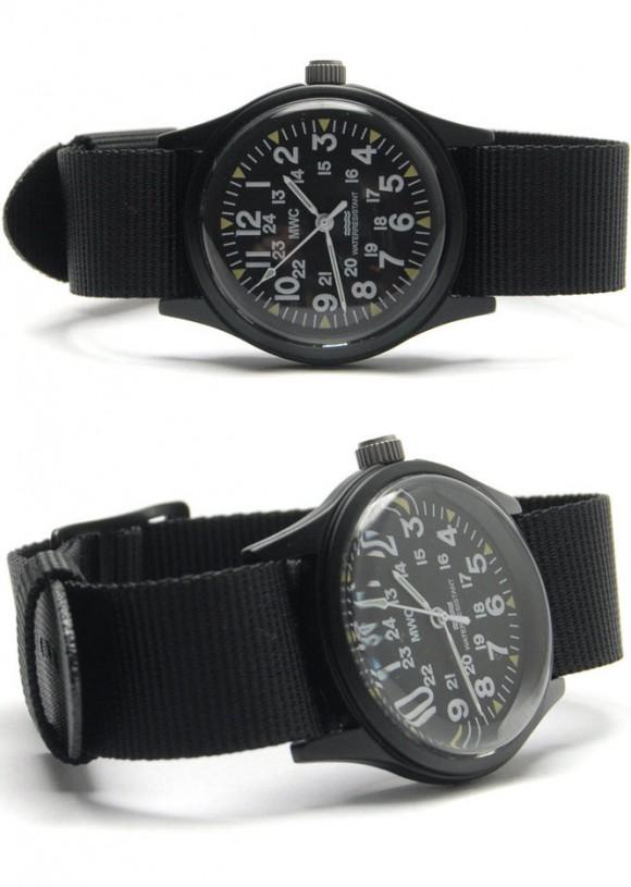 4 x 18mm US Pattern Black Military Watch Strap  (For Cadets / Women)