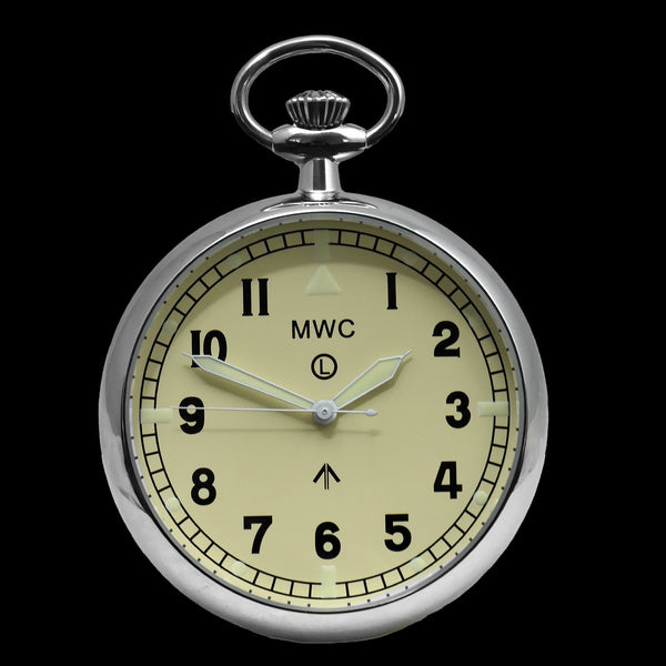 General Service Military Pocket Watch (24 Jewel Automatic Movement with Option to Hand Wind)