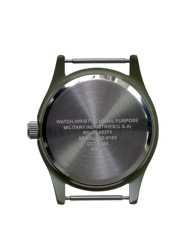 Military Industries Olive Vietnam Watch on Matching Olive Strap