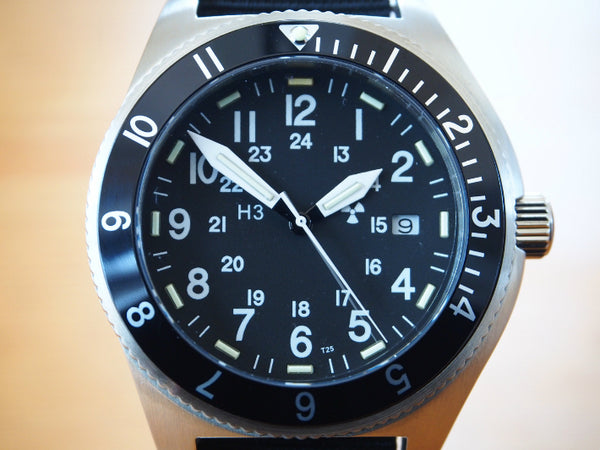 MWC 300m Water Resistant Stainless Steel Tritium GTLS Navigator Watch - Ex Display Watch from the IWA Show in Germany