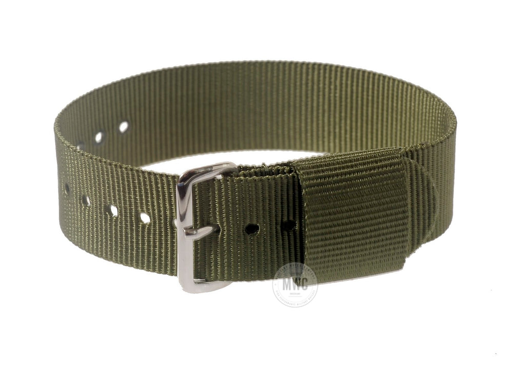 20mm US Pattern Olive Green Military Watch Strap