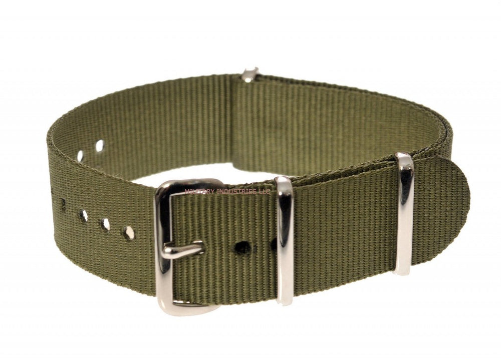 20mm Olive NATO Military Watch Strap