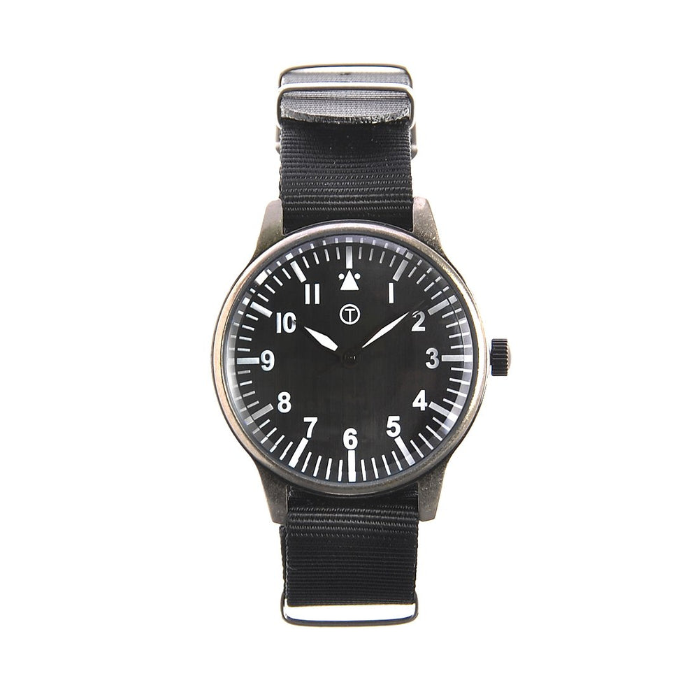 1960s Pattern Military Watch in Retro Pattern Casing on Nylon Webbing Strap