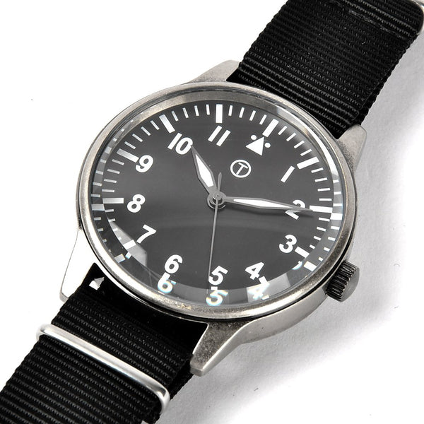 1960s Pattern Military Watch in Retro Pattern Casing on Nylon Webbing Strap - Ex Display Watch From A Trade Show Reduced