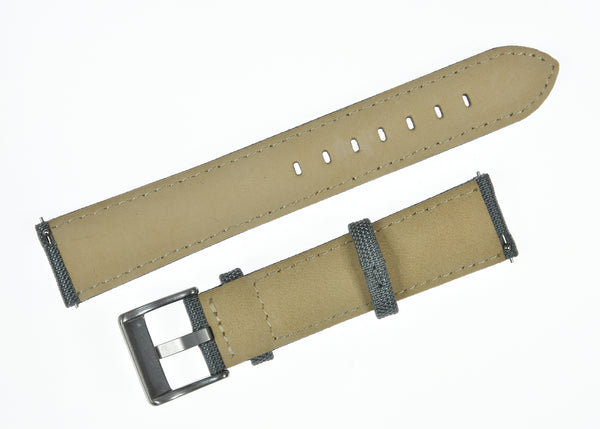 24mm Grey Sailcloth CORDURA® Watchstrap