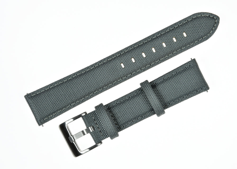 18mm Grey Sailcloth CORDURA® Watchstrap