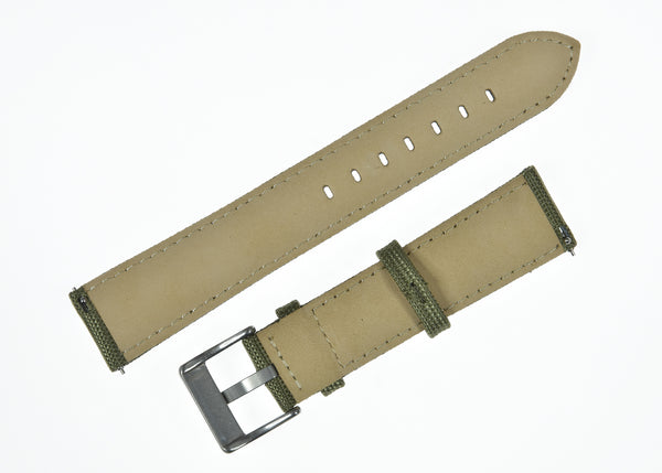 22mm Olive Green Sailcloth CORDURA® Watchstrap