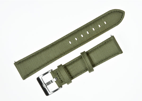 18mm Olive Green Sailcloth CORDURA® Watchstrap