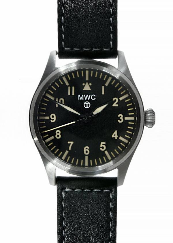 MWC Classic 40mm Stainless Steel Aviator Watch with Hybrid Movement and 100m Water Resistance - Not Running