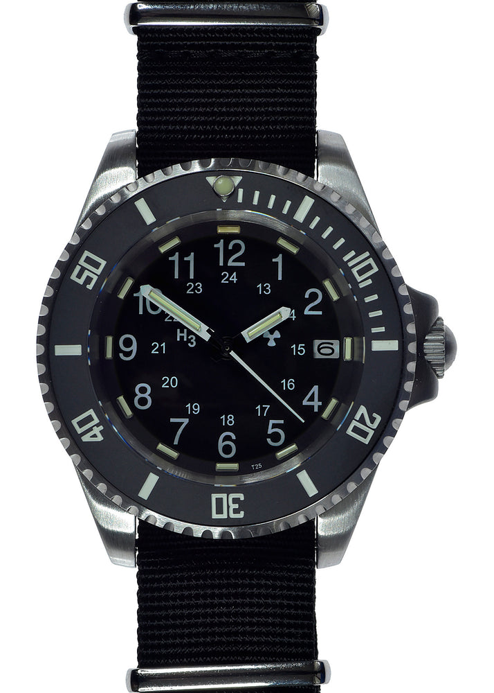 MWC 24 Jewel 300m Automatic Military Divers Watch with Tritium GTLS, Sapphire Crystal and Ceramic Bezel